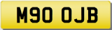 JB INITIALS  Private CHERISHED Registration Number PLATE  OJB 900cc
